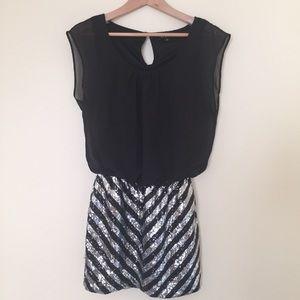 As U Wish / black sequin mini party dress
